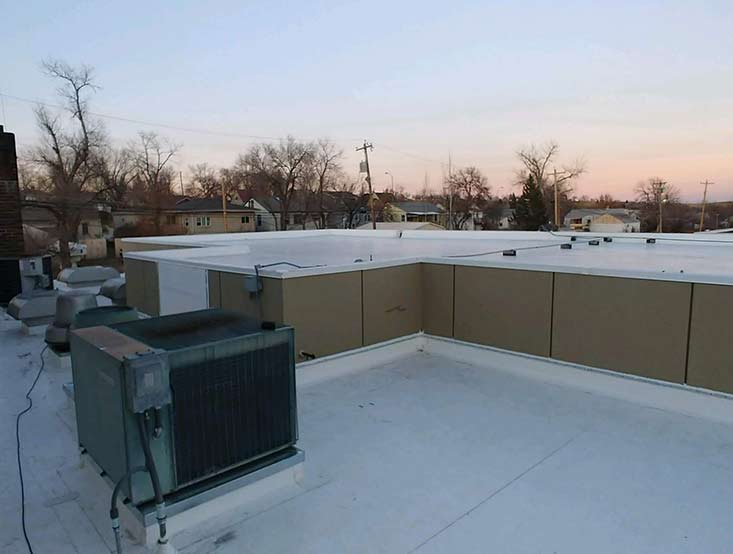 Picture of flat roof after repair